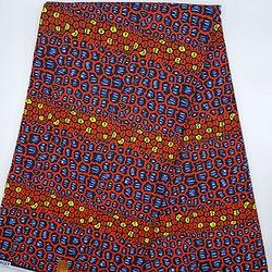 Pagne - Wax - Graphiques - Rouge / Jaune / Bleu