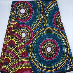 Coupon de tissu - Wax - Ronds - Multi-couleurs