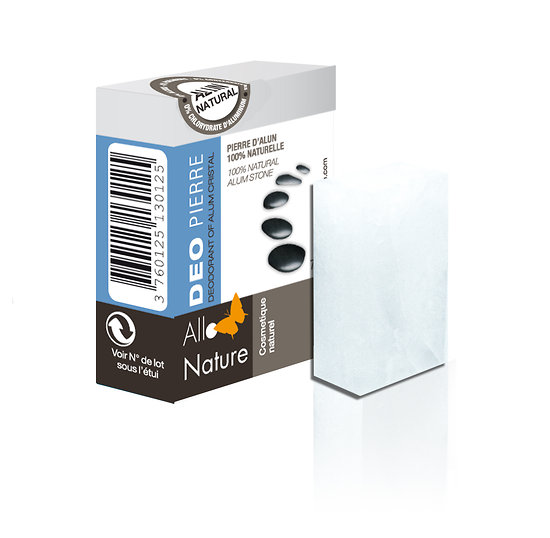 Déodorant Pierre d'Alun brute 75 ou 150gr - Allo'Nature