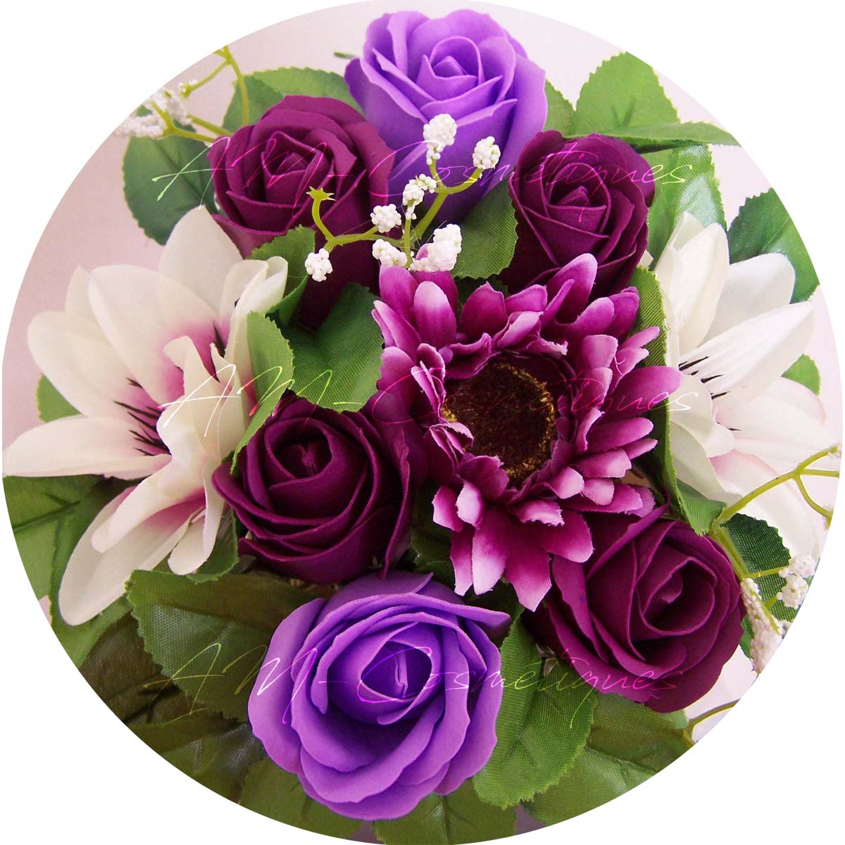 Bouquet De Fleurs En Savon Personnalisé Pour Bain Romantique