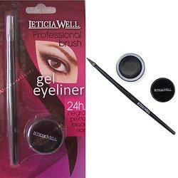 Eyeliner gel Noir pinceau tracé fin ou épais selon envies Leticia Well