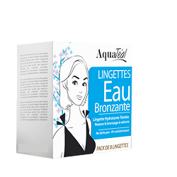 Lingettes Eau Bronzante Visage (pack de 8) - Aquatéal