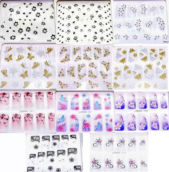 Accessoires Nail Art :  Une planche Stickers Ongles - Motifs Au Choix - 3D Nail Seal
