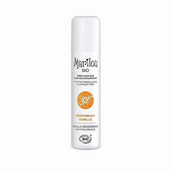 Déodorant Vanille en 75ml spray sans gaz actif naturel Marilou Bio