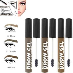Mascara Sourcils gel fixant Brow en Blond, Châtain, Brun Miss Cop