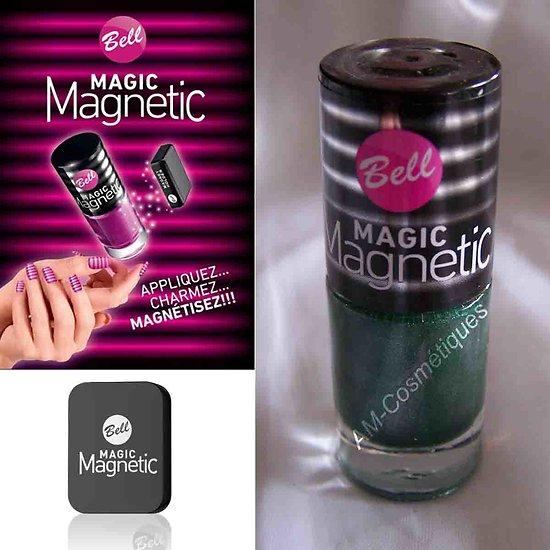 Vernis à Ongles magnétique Vert 35 aimant lignes Magic Bell