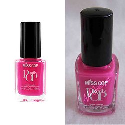 Vernis à ongles Rose Fuchsia 17 couleur intense brillante Miss Cop
