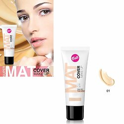 Fond de teint Nude 01 super mat cover make-up peaux mates Bell