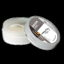 Savon à raser Bio en 100g et sa boite ronde rechargeable - Allo'Nature