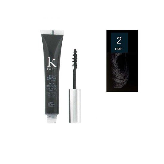 Mascara cheveux Brun 02 Bio camoufle cheveux blancs K pour Karité