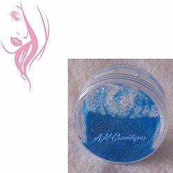 Paillettes cosmétiques Bleu Fluo fluorescente et réactive aux UV