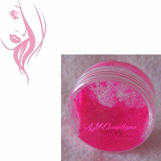 Paillettes cosmétiques Rose Bonbon fluorescente réactive aux UV