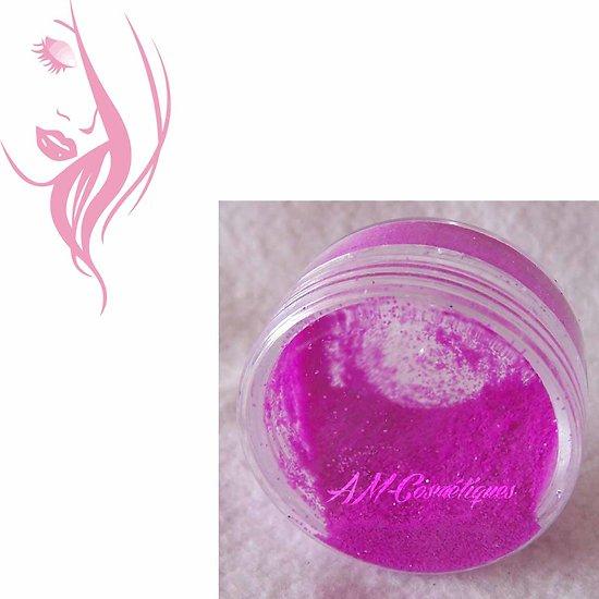 Paillettes cosmétiques Fuchsia fluorescente et réactive aux UV