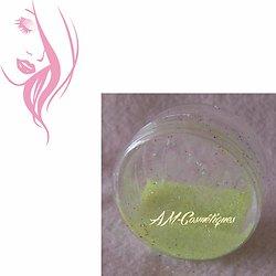 Paillettes cosmétiques Jaune Pastel fluorescente et réactive aux UV