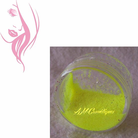 Paillettes cosmétiques Jaune Mat fluorescente et réactive aux UV