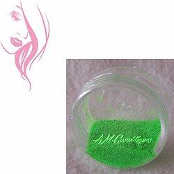 Paillettes cosmétiques Vert Fluo fluorescente et réactive aux UV