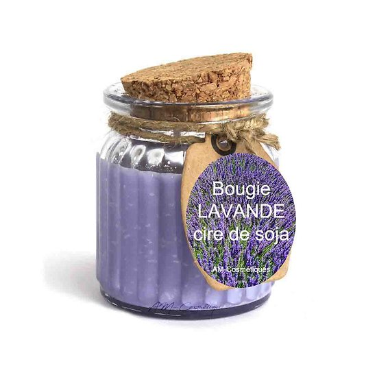 Bougie Lavande cire de soja profitez du parfum doux et naturel