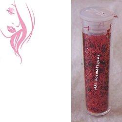 Fils de paillettes Rouge tube 3g décoration nail art ou créations