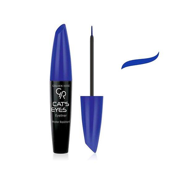 Eyeliner Bleu Cat's Eyes liner mat sublimera le regard Golden Rose