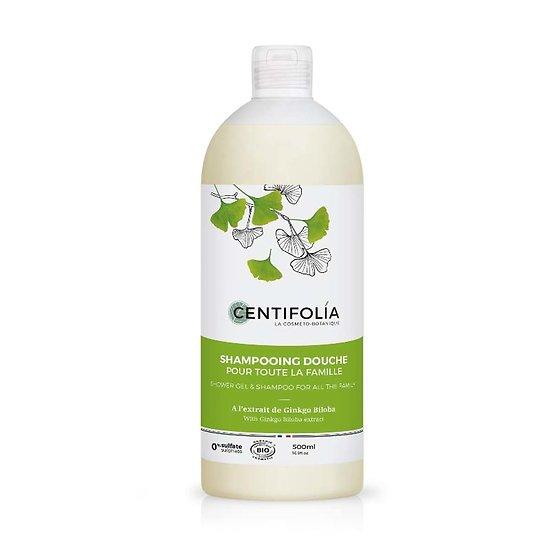 Shampoing douche Corps et Cheveux Bio 500ml pour la famille Centifolia