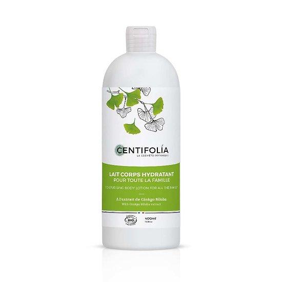Lait Corps hydratant Bio 400ml pour la famille beurre cacao Centifolia