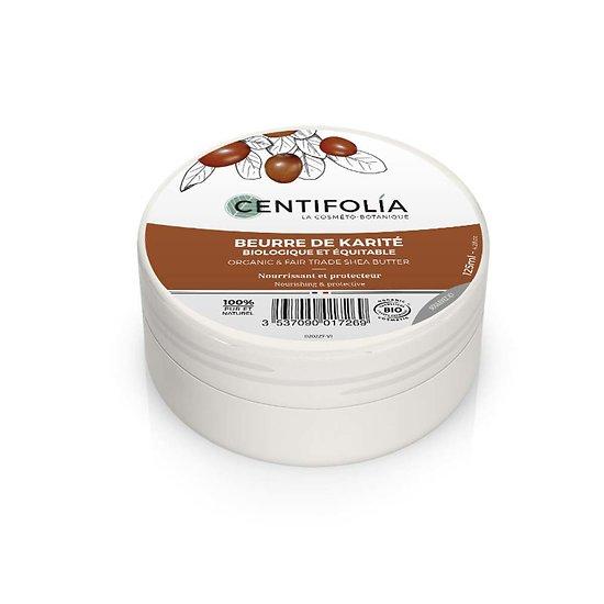 Beurre de Karité Bio en 125ml idéal peaux et cheveux abîmés Centifolia
