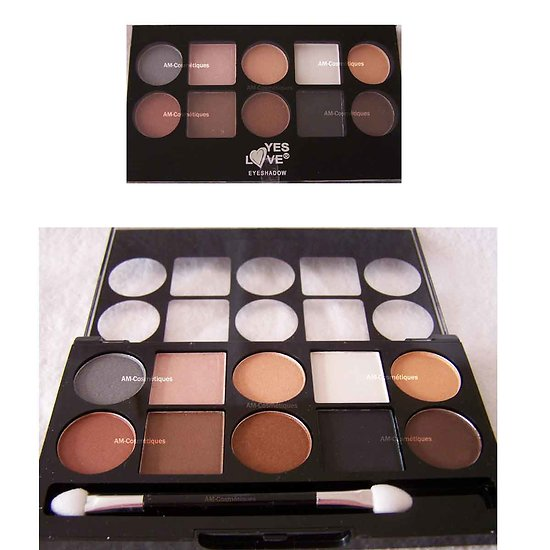 Palette ombres à paupières dégradé de 10 fards Marron Yes Love