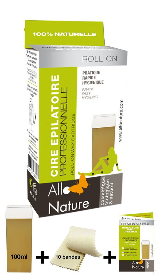 Kit Recharge Roll-On bio avec bandes - Allo'Nature