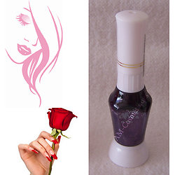 Stylo nail art Violet pailleté vernis pour dessins sur ongles Yes Love
