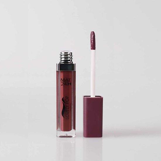 Rouge à lèvres liquide Mat Brun intense 06 mat 24h Lovely Pop
