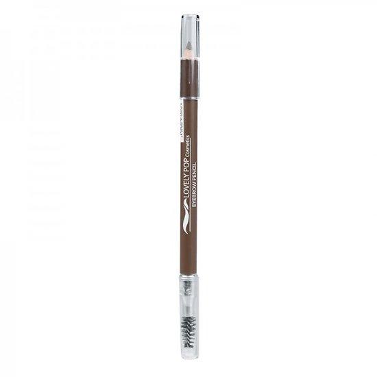 Crayon Sourcils Cendré 2en1 avec embout pinceau goupillon - Lovely Pop