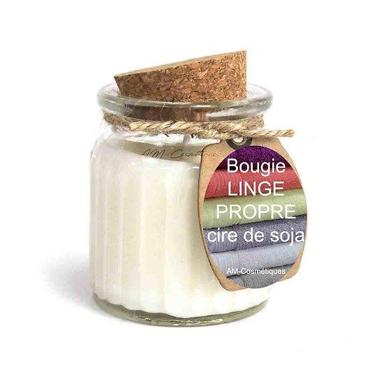 Bougie Linge Propre cire de soja profitez du parfum doux et naturel