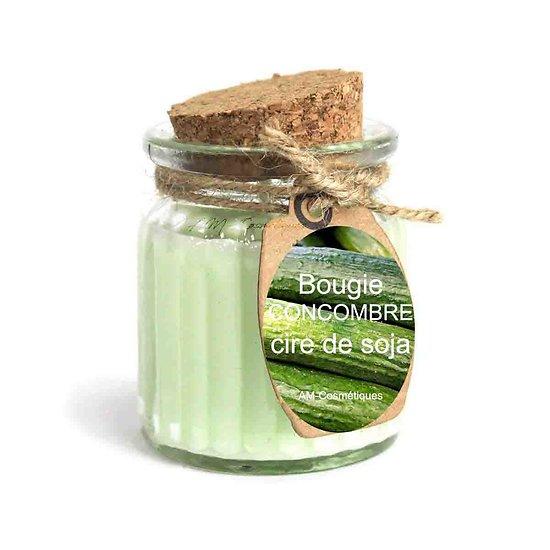 Bougie Concombre cire de soja profitez du parfum doux et naturel