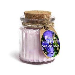 Bougie Violette cire de soja profitez du parfum doux et naturel