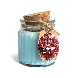 Bougie Fruits Rouges d'hiver cire de soja parfum doux et naturel