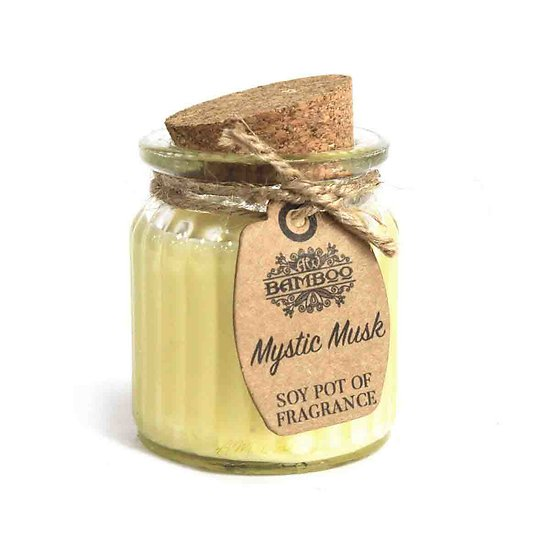 Bougie à la cire de soja Musc mystique parfum doux et naturel