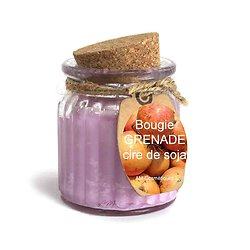 Bougie Grenade cire de soja profitez du parfum doux et naturel