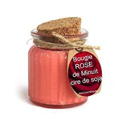 Bougie Rose de Minuit cire soja profitez du parfum doux et naturel