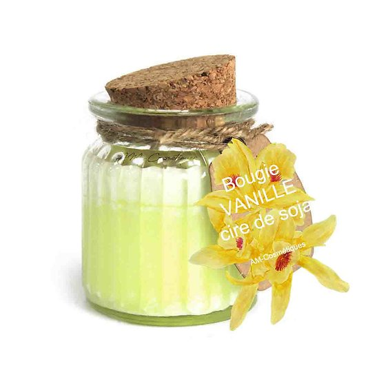 Bougie Vanille cire de soja profitez du parfum doux et naturel