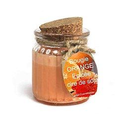 Bougie Orange épicée cire de soja profitez du parfum naturel