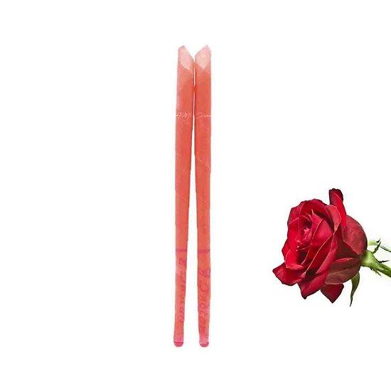 Bougie d'oreille Rose parfumée lot 2 bougies auriculaires