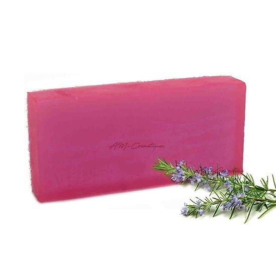 Savon aromathérapie Romarin 100g rose avec un parfum attrayant
