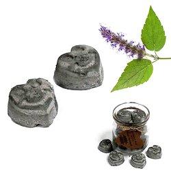 Fondant cire de soja Patchouli coeur mélange et huiles parfumées