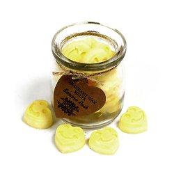 Fondants Banane coeur un mélange de cire de soja et huiles parfumées