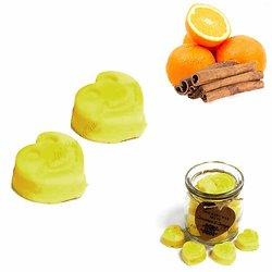 Fondant cire soja Cannelle et Orange mélange huiles parfumées