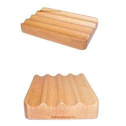 Porte savon Ondulé en bois d'hemu poser et faire sécher le savon