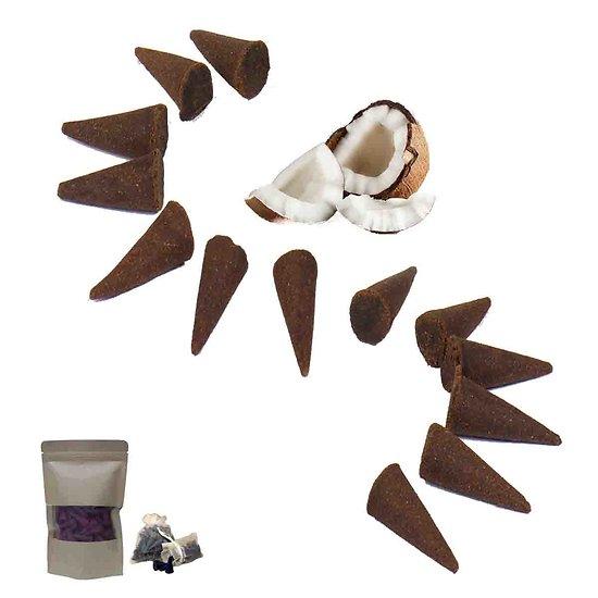 Cônes d'encens Noix de Coco premium pour un parfum exotique