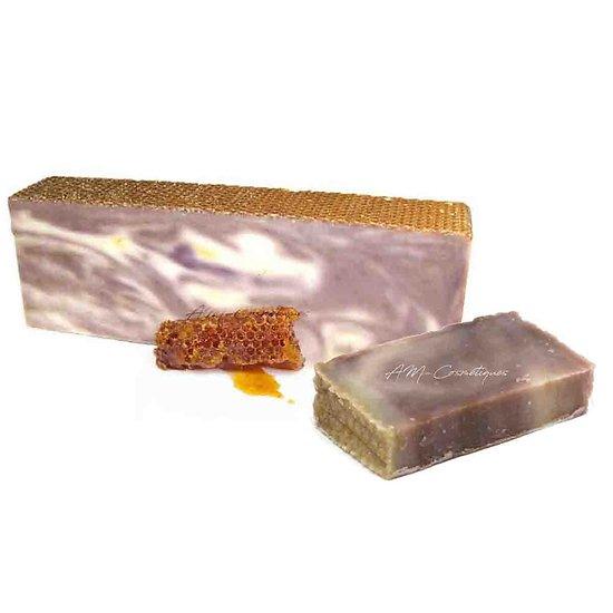 Savon artisanal Propolis miel à l'huile d'olive 100g peau douce