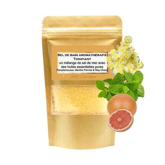 Sel de bain Tonifiant huiles pamplemousse, menthe, may chang