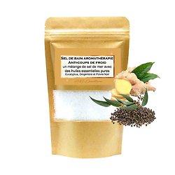 Sel de bain Anti-Coup de froid huiles eucalyptus, gingembre, poivre